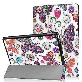 iPad Air 10.5 & iPad Pro 10.5 Slim fit tri-fold fodral - Butterflies and Flowers