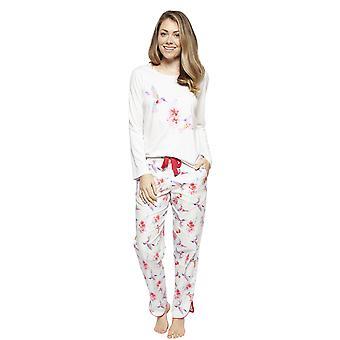 Cyberjammies 4210 Ženy & apos, s Evie Slonovina Off Bílý kolibřík Tisk Bavlněné pyžamo Top