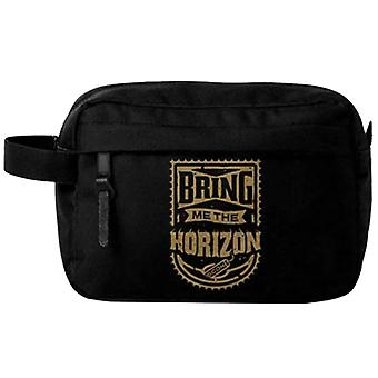 Bring Me Horizon Wash Bag Gold Band Logo yeni Resmi Siyah