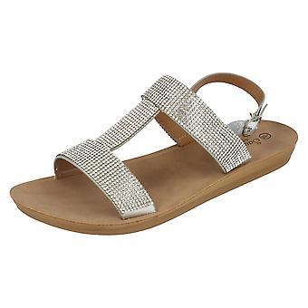 Dames Savannah casual T-bar sandalen