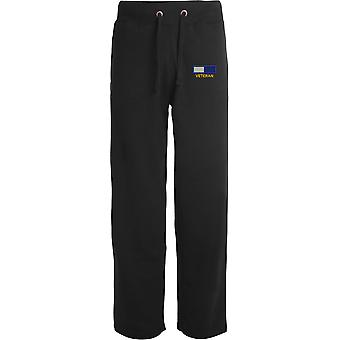 Royal Signals TRF veteran-licenseret British Army broderet åbne hem sweatpants/jogging bunde