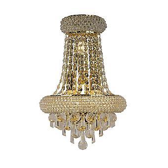 Diyas Alexandra Wall Lamp Large 3 Light French Gold/Crystal