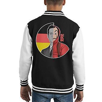 La Casa De Papel Berlin Money Heist Kid's Varsity Jacket