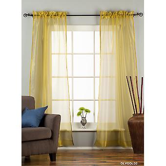 Olive Gold - Rod Tasche schiere Gewebe Vorhang Panel Drape - Stück