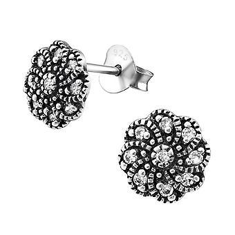 Kvetina-925 Sterling Silver kubický zirkónia ušné gombíky-W30812x