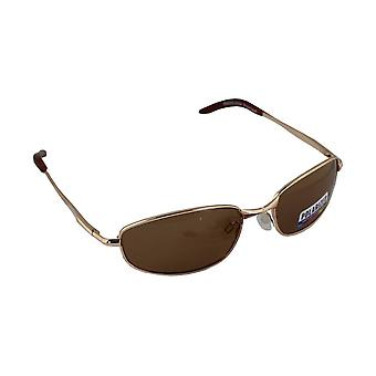 Men's Sunglasses Polaroid Rectangular - Gold/Brown with free brillenkokerS306_2