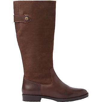 Joules Womens Canterbury Leather Zip Up Knee High Boots