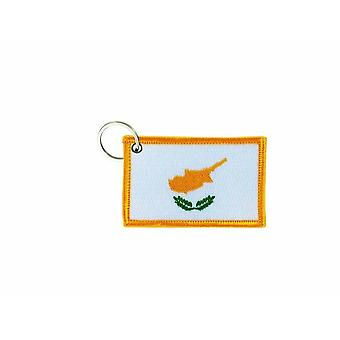 Cle Cles Key Brode Patch Ecusson Abzeichen Flagge Zypern Zyprioten
