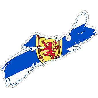 Sticker sticker Adhesif vinyl auto vlag kaart Nova Schotland Canada