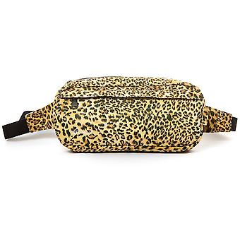 Spiral Leopard Faux Suede Cross Body Bag