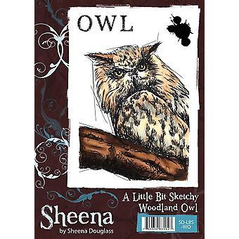 Sheena Douglass A Little Bit Sketchy A6 Rubber Stamp Set - Hibou des bois