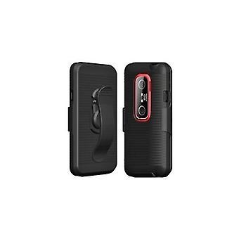 Sprint mobiele telefoon holster en case voor HTC EVO 3D-zwart
