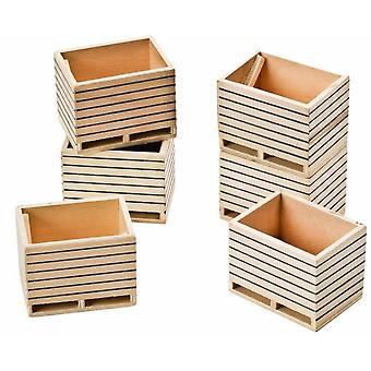 KidsGlobe  (Kids Globe) Kids Globe Wooden Potatoe Boxes 1:32  610611
