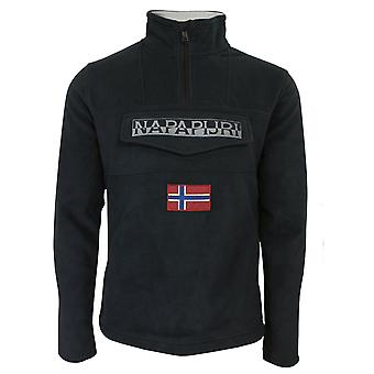 Napapijri ted hz men's black fleece overhead