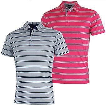 Bobby Jones Mens XH20 Wren Heather Stripe Stretch Golf Polo Shirt