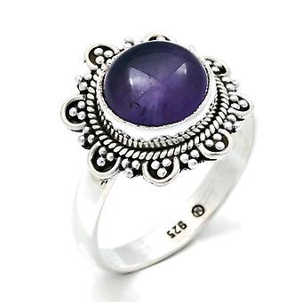 Ring Zilver 925 Sterling Zilver Amethist Purple Stone (Nr: MRI 120)