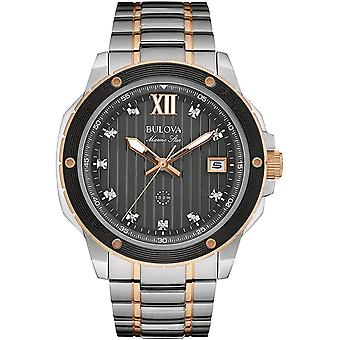Bulova 98D127 Men's Marine Star Black Dial Wristwatch