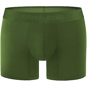 Comfyballs modal katoen stretch Boxer brief, Ghost Olive