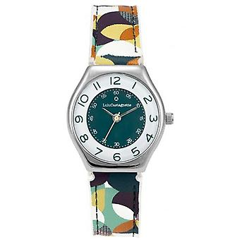 Children's Watch Lulu Castagnette 38898 - Round case m tal White dial Multicolour patterned leather bracelet