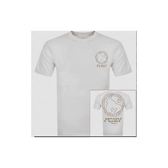 Money Clothing Aztec Imprimé Logo Blanc/Or T-shirt
