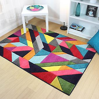 Radiant Jigsaw Multi  Rectangle Rugs Funky Rugs