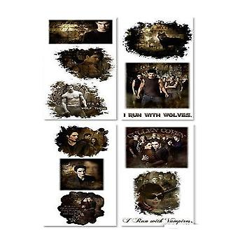 Twilight Saga New Moon Sticker Set Reusable Textured Dream
