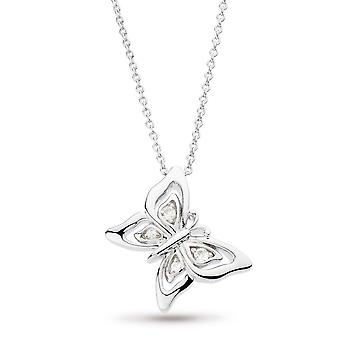 Kit Heath Blossom Flyte Butterfly White Topaz 17-quot; Necklace 90352WT