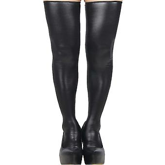 Sexy Plus Size Classic Shiny Wet Look Stockings Thigh Highs