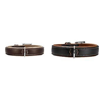 Hunter Canadian Elk Leather Dog Collar