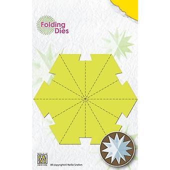 Nellie's Choice Rosett Folding Die - Christmas ball stjerne stor NFD016