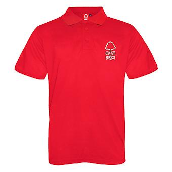 Nottingham Forest FC Official Football Gift Boys Crest Polo Shirt