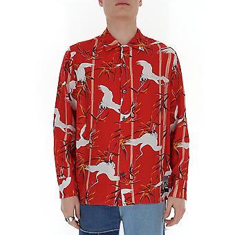 Buscemi Bms20233089 Men's Red Cotton Shirt