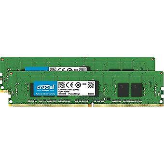 حاسمة ct2 K4g4rfs824 - DDR4، 8 غيغابايت (2 × 4 غيغابايت) بطاقة الذاكرة، DIMM، 288 أقطاب، 2400 ميغاهرتز، PC4-19200، CL 17، 1.2 V رام
