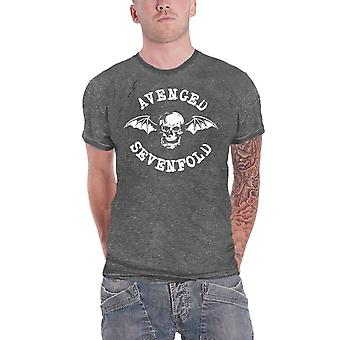 Avenged Sevenfold T Shirt Deathbat Band Logo Oficial cărbune gri Burn Out