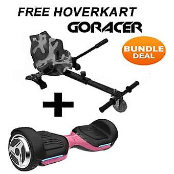 G PRO Pink Segway with a Racer Camo Hovercart