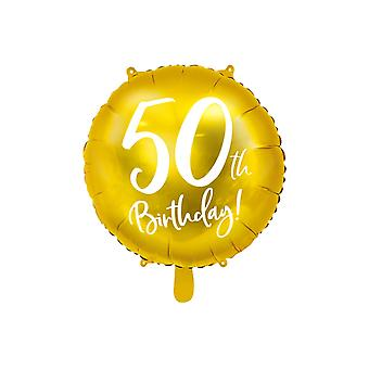 Foil Balloon Gold 50 Years | 45 cm