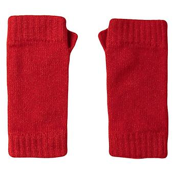 Johnstons van Elgin Cashmere polswarmers - Classic rood