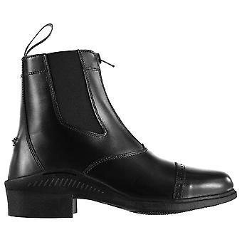 Brogini Womens Tivoli Zip Jodhpur Boots Yard Shoes Equestrian Brogue Pull Tab