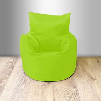 Ready Steady Bed Children-apos;s 100% Cotton Twill Pre-Filled Bean Chair, Lime Green