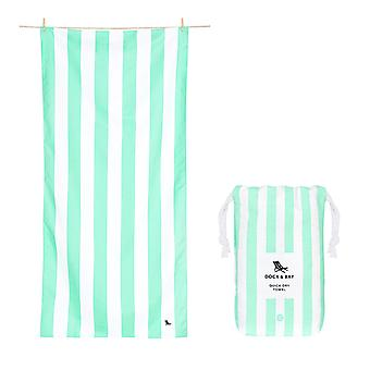 Quick dry beach towels - cabana - narabeen green