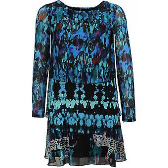 Desigual Tona skiktad mönstrad klänning