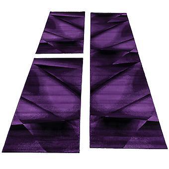 Carpet bed border short flor set 3-piece bedroom runner purple mottled