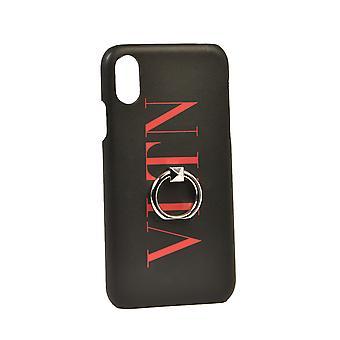 Valentino Garavani Ty2p0379ffl0sm Men's Black Leather Cover