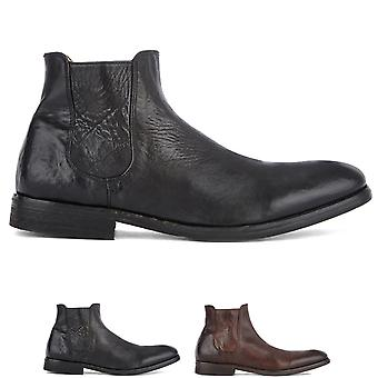 Mens Hudson London Stobart Leather Lived In Work Office Chelsea Ankle Boot