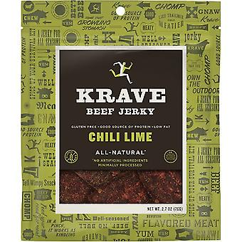 Krave Gluten Free Beef Jerky Chili Lime