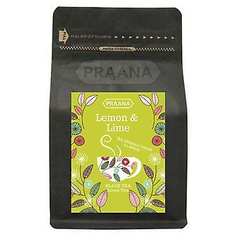 Praana Tee - Luxus schwarzer Tee mit echten Zitrone und Limette Stücke - 100 G