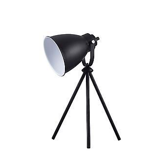 Bordslampa Marla Färg Svart, Vit metall, L25xP21xA43,5 cm