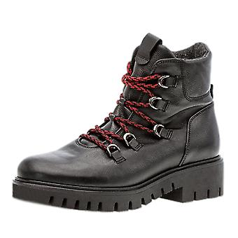 Gabor Valley Wide Fit Hiking Style Boots In Black
