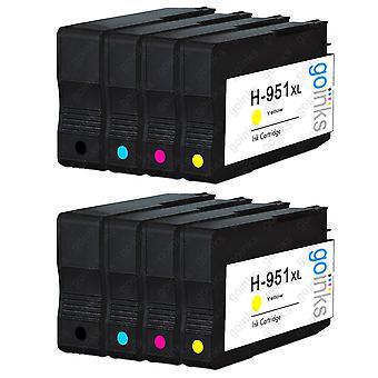 2 kompatible sæt med printerblækpatroner på 4 HK 950 og 951 (HP 950XL og 951XL)