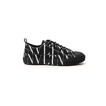 Valentino Garavani Uy2s0d57jky0ni Men's Wit/zwart Leren Sneakers